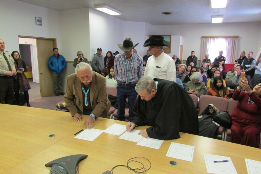 Photo of San Juan County commission swearing in