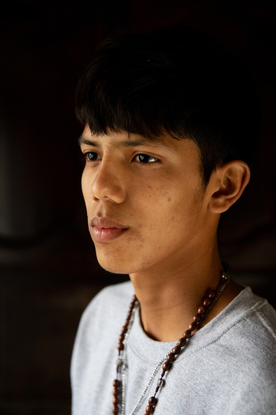 Marvin Joel Zelaya-Garcia, 17, fled Tegucigalpa, Honduras, with his father because of pressure to join local gangs. Marvin is currently living with his uncle in a suburb of Dallas, Texas.