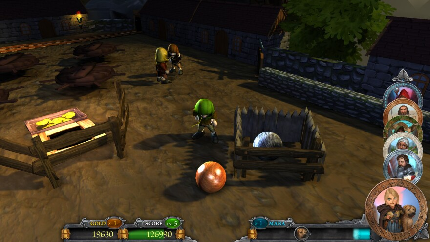 A screenshot from Rollers Of The Realm.