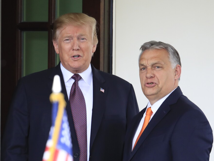 President Trump welcomes Hungarian Prime Minister Viktor Orban to the White House in May 2019.
