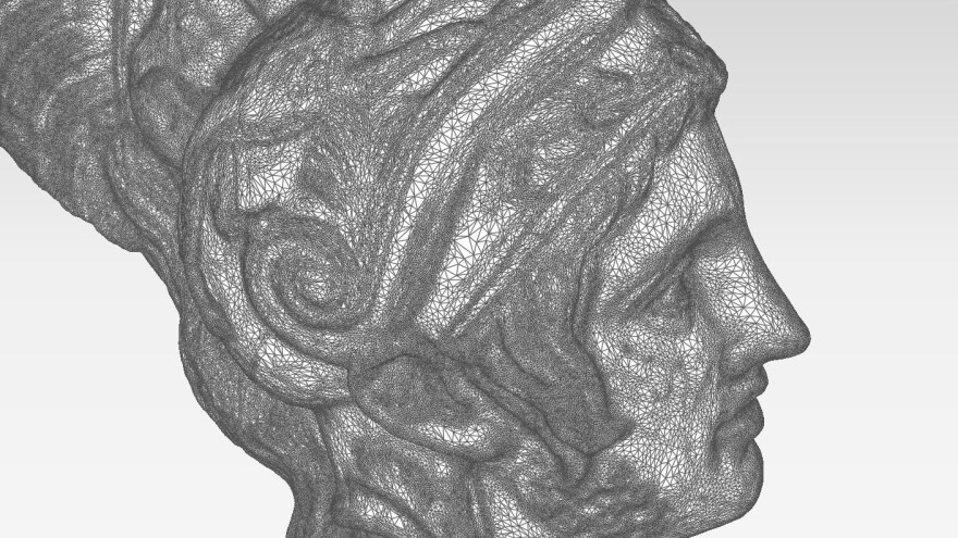 Cosmo Wenman generated this 3-D model of the <em>Ares Borghese</em>, based on hundreds of photos, from the Basel Sculpture Hall. Wenman publishes the scans online, so that anyone can use them to 3-D print a replica of the masterpiece.