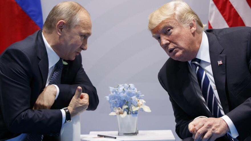President Trump meets with Russian President Vladimir Putin at the G-20 Summit in Hamburg, Germany, last July.