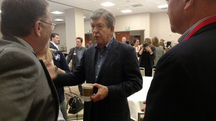 U.S. Sen. Roy Blunt mingles with Republican supporters at state party's Lincoln Days festivities, held this weekend in Kansas City.