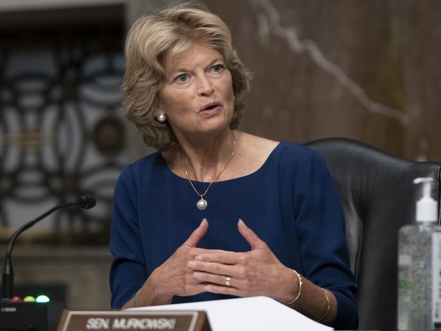 Sen. Lisa Murkowski (R-AK) asks a question at a hearing of the Senate Health, Education, Labor and Pensions Committee on Sept. 23, 2020.