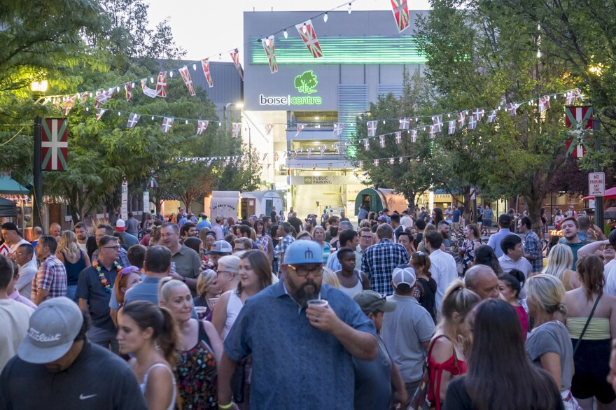 Crowds fill the Basque Block in downtown Boise during the San Inazio Festival. The festival features Basque traditions including dancing, food and music.
