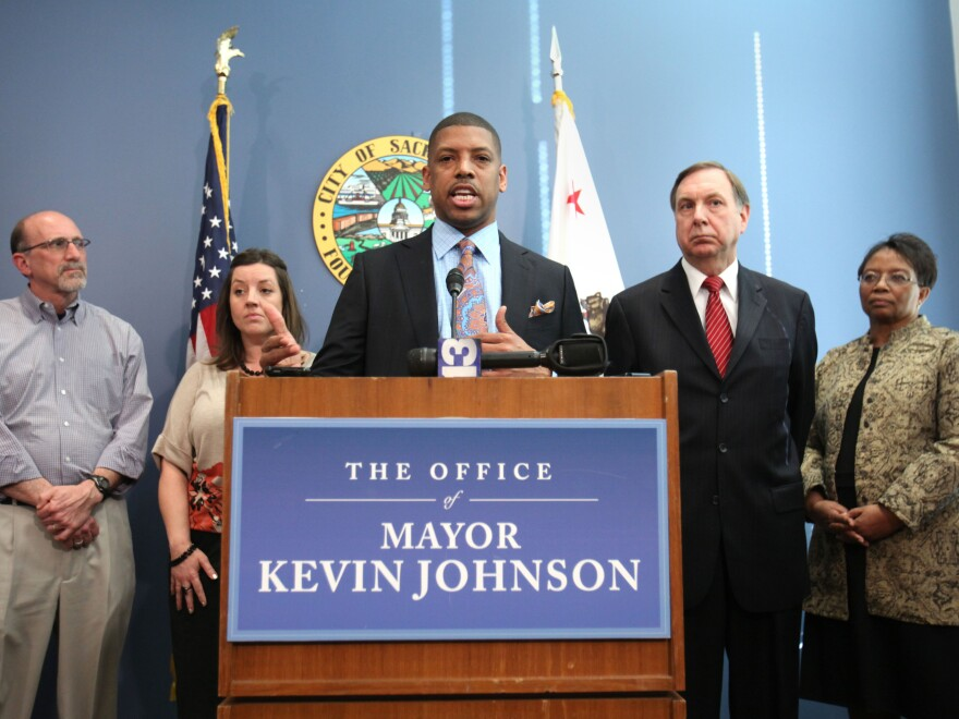 """Sacramento Mayor Kevin Johnson said his decision not to seek re-election """"was an incredibly difficult choice, but one that I feel confident about."""""""