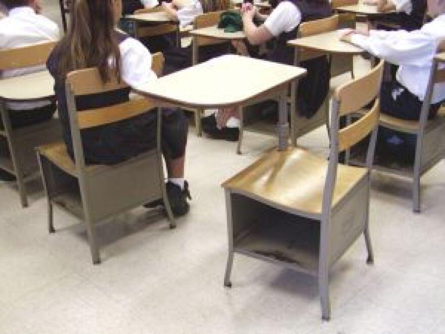 An empty desk