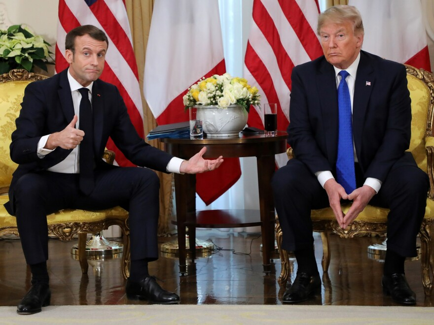 President Trump and French President Emmanuel Macron aired their differences on the sidelines of a NATO leaders' summit in London.