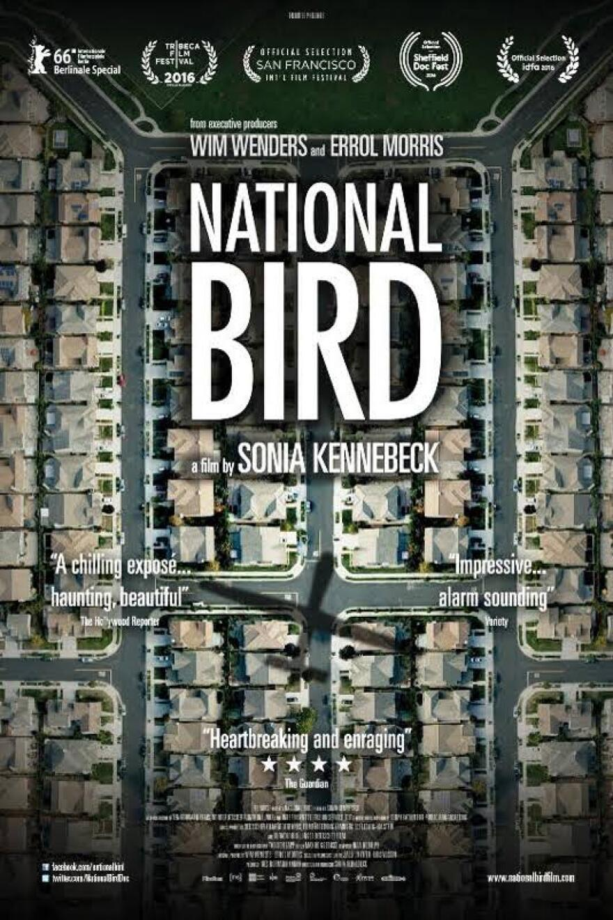 """Poster for the film """"National Bird."""""""