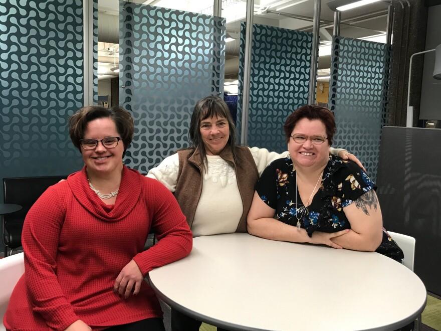 Tamara Mahler, Mary Elizabeth Lenahan and Alva McCloud
