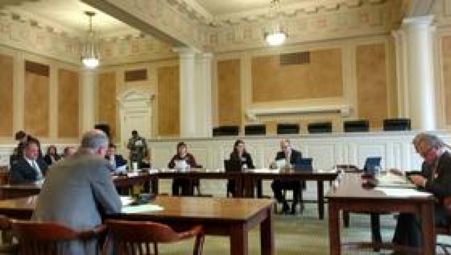 Sen. Jim Hendren (R-Gravette) explains SB115 before the Arkansas Senate Committee on Revenue and Taxation.