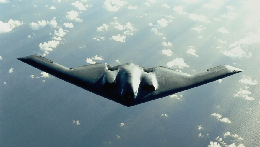 "U.S. Strategic Command deleted a New Year's Eve tweet depicting a B-2 bomber in flight (not this one), saying it was in ""poor taste."""