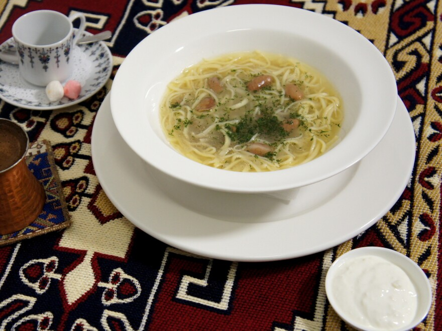 Musafir's menu features foods from the temperate climate of Crimea, with flavors resembling those in Turkish food.