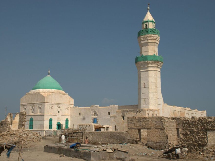 The el-Geyf mosque on the island of Suakin, Sudan.