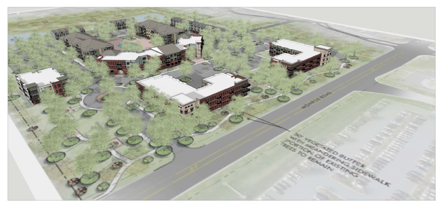 An overhead view shows the proposed plan for Proximity Matthews.