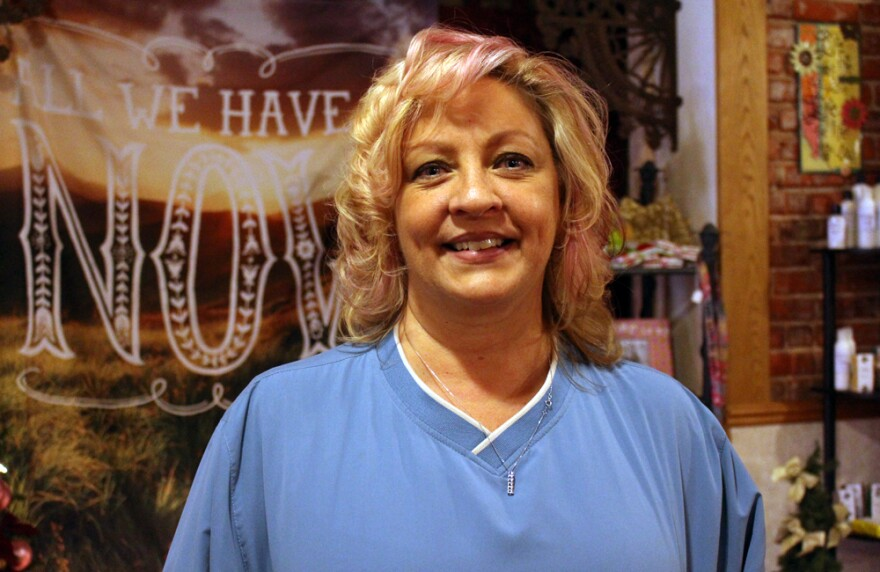 After being laid off from Cabela's, Lori Rowan Peetz bought a coffee shop in downtown Sidney.