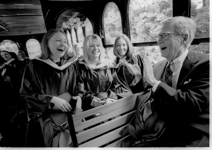 In 2002, Fred sang with the graduates of Chatham University before giving the commencement address. People loved him. They melted in his presence regardless of age, gender or station in life.