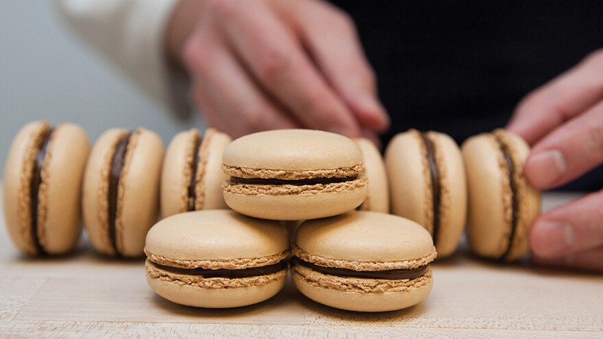These salted caramel macarons are from New York's Bouchon Bakery.