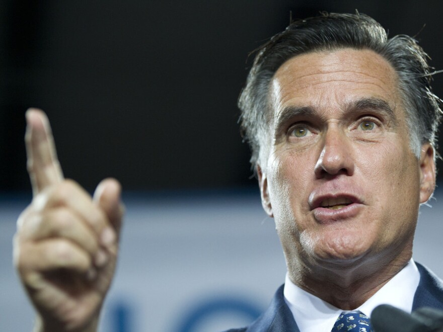 During a speech to introduce his jobs plan Thursday, presidential hopeful Mitt Romney called for lowering the corporate tax rate. It's a common refrain among the Republican candidates.