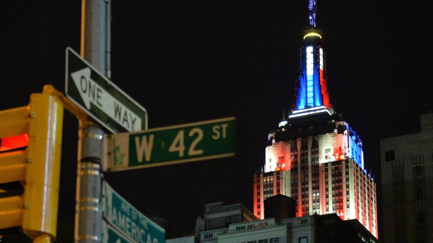 Like the Empire State Building in New York, Clinton's logo is changing appearance to say something about the topics of the day or to tailor to key constituencies.