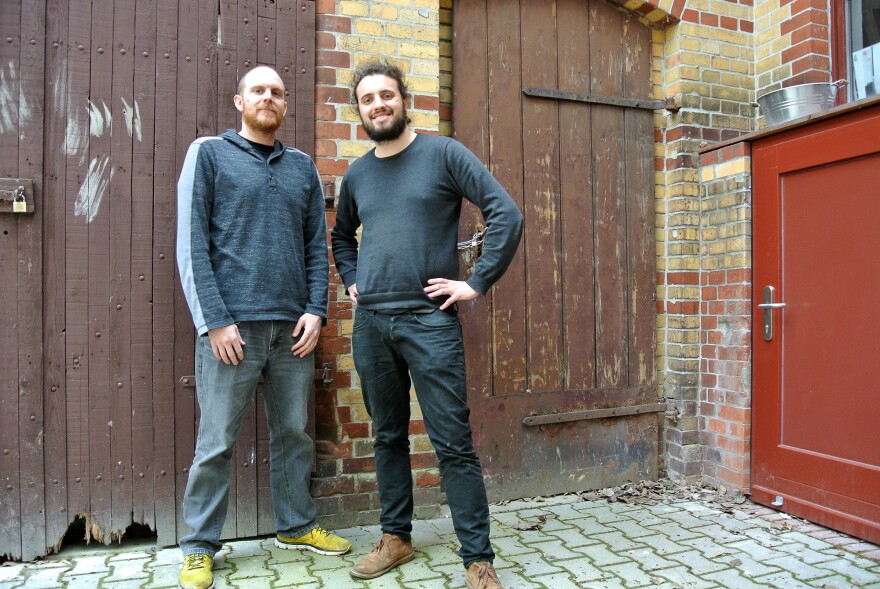 Brewmaster Richie Hodges (left) and CEO Robin Weber are still building one of Germany's newest breweries, Berliner Berg. Hodges, originally from the U.S., trained at Germany's oldest brewery, Weihenstephan, in Munich.