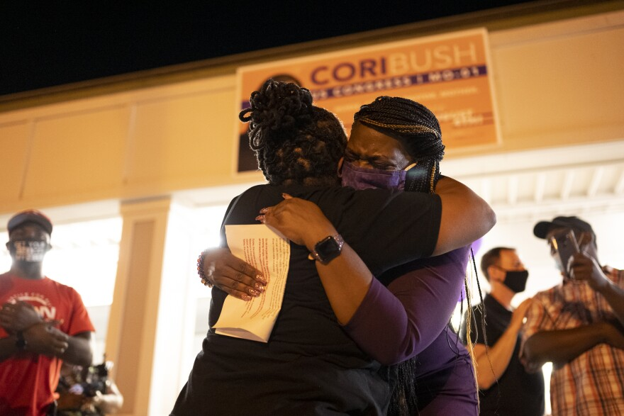 Cori Bush defeated Rep. Lacy Clay in the Democratic primary for Missouri's 1st Congressional District on Tuesday, Aug. 5, 2020.