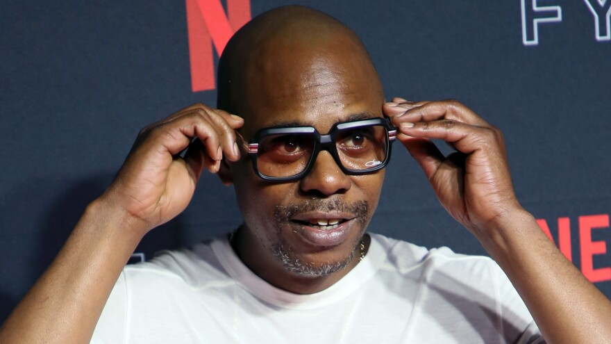 Comedian Dave Chappelle at the 2018 Netflix FYSEE Kick-Off in Los Angeles.
