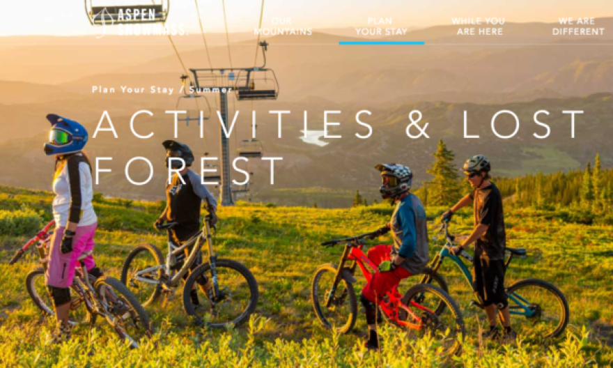 Aspen Skiing Company's web promotion for their 'Lost Forest' summer activities