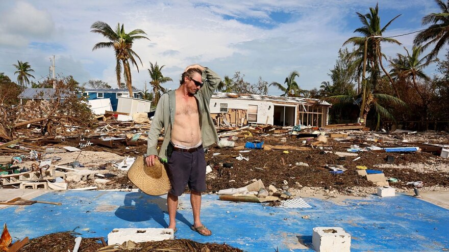 Damage from Hurrican Irma was significant on Islamorada in the Florida Keys.