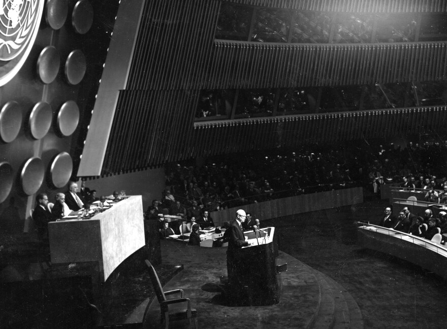 President Dwight D. Eisenhower delivered his Atoms for Peace speech at the U.N. General Assembly in 1953. As part of this program, the U.S. helped Iran and other countries develop civilian nuclear technology based on the belief this would keep them from seeking nuclear weapons on their own.