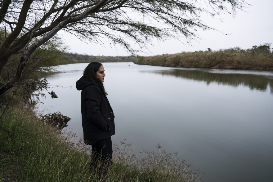 Nayda Alvarez has been fighting border wall construction that is expected to cut through her property for more than a year now.