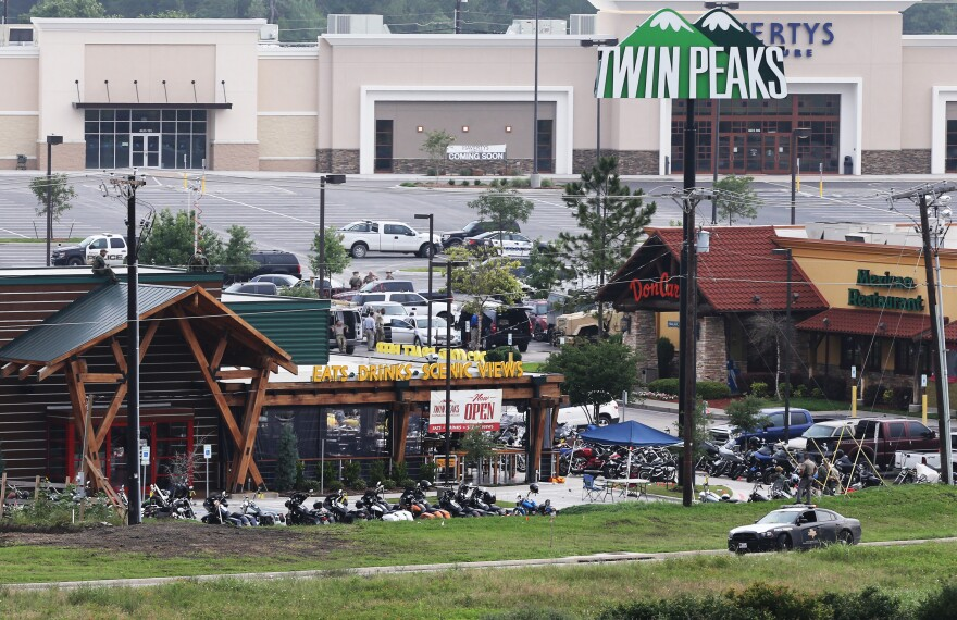 "Motorcycle gang-related gunfire killed nine people at the Twin Peaks restaurant in Waco, Texas, on May 17. More than 170 people were arrested on charges of ""engaging in organized criminal activity."""
