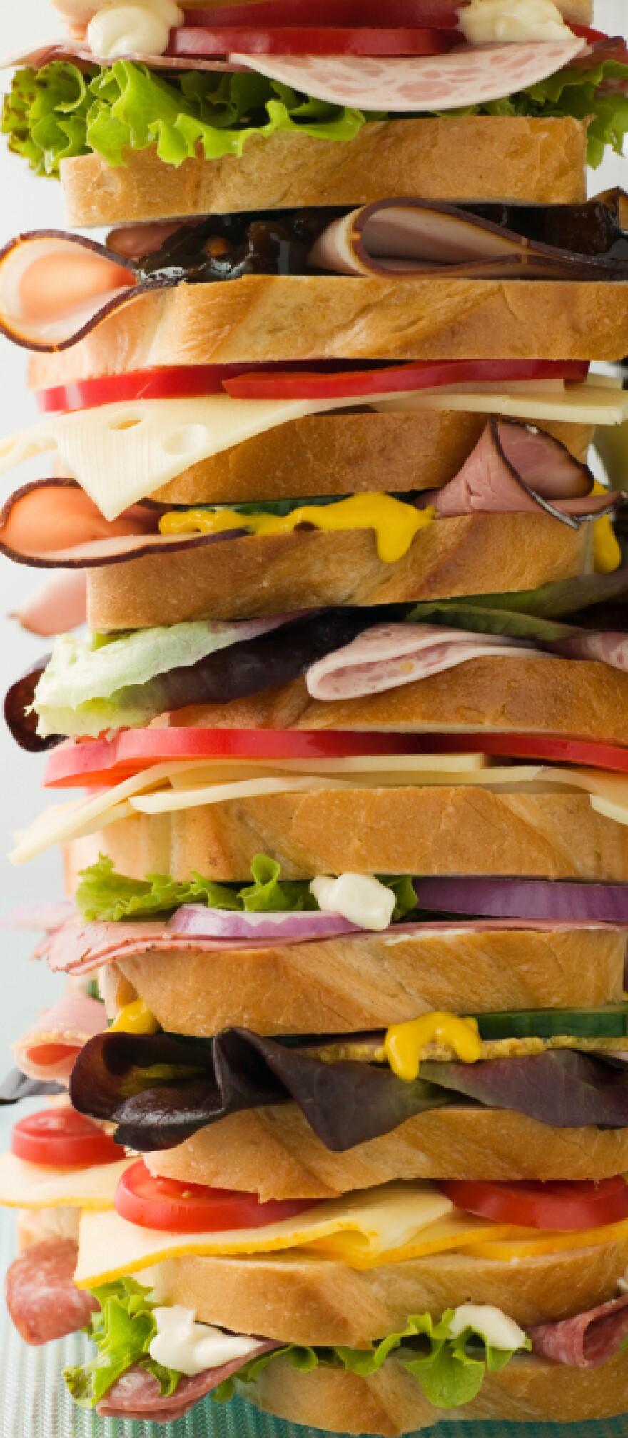 Variation on a club sandwich.