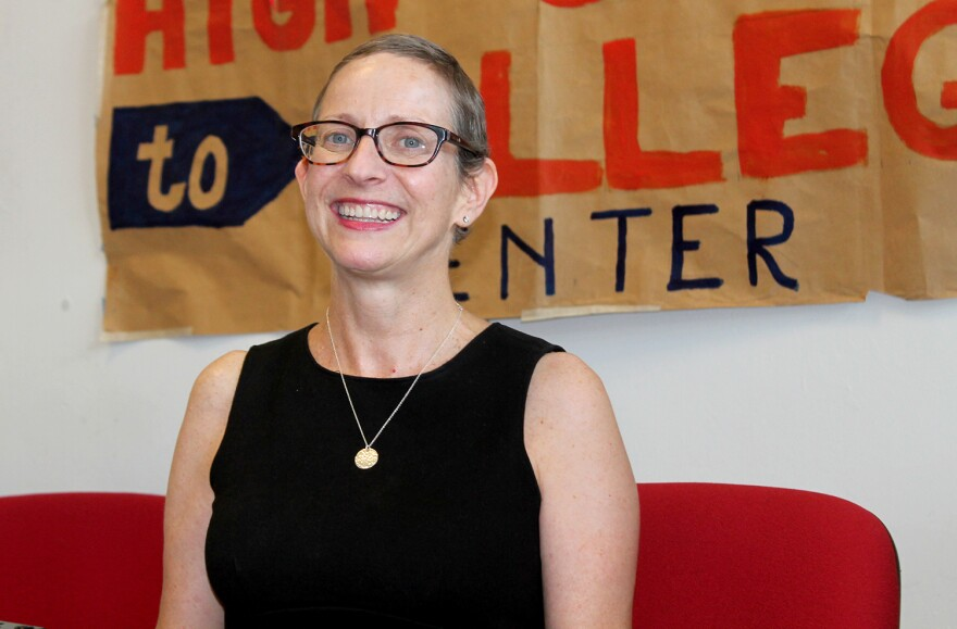 Laura Winter is the project director for St. Louis Graduates, which runs a drop-in center for high school graduates to get guidance during the summer before college.