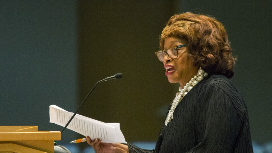 Former Rep. Corrine Brown, seen in 2015 in Tallahassee, Fla. She has been sentenced to five years in prison.