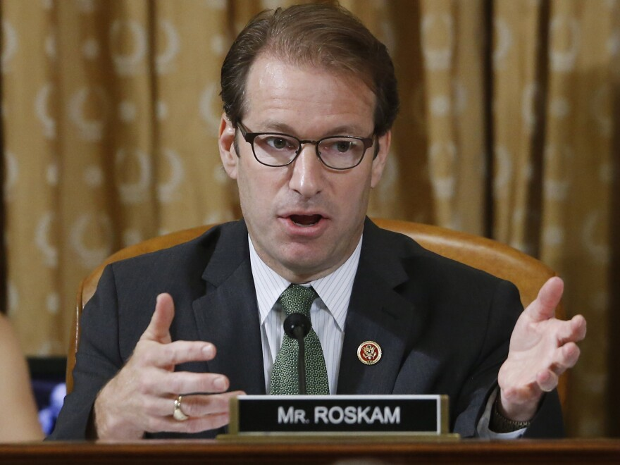 "Rep. Peter Roskam, R-Ill., is one of two ""names [that] keep cropping up in conversations with GOP members,"" wrote <em>National Review</em>."
