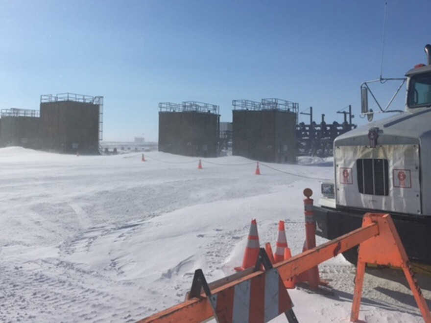 A BP oil well near Deadhorse, Alaska was misting natural gas on Alaska's frozen North Slope on Saturday. The Alaska Department of Conservation said on Monday that a team of workers had successfully stopped the leak.