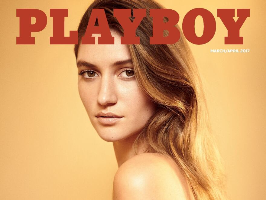Elizabeth Elam is on the cover of <em>Playboy</em>'s March-April 2017 issue, the magazine's first to feature nude women after a one-year ban.