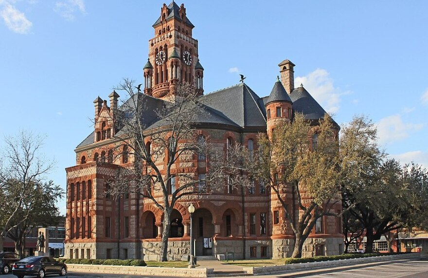 The Ellis County Courthouse in Waxahachie, Texas.