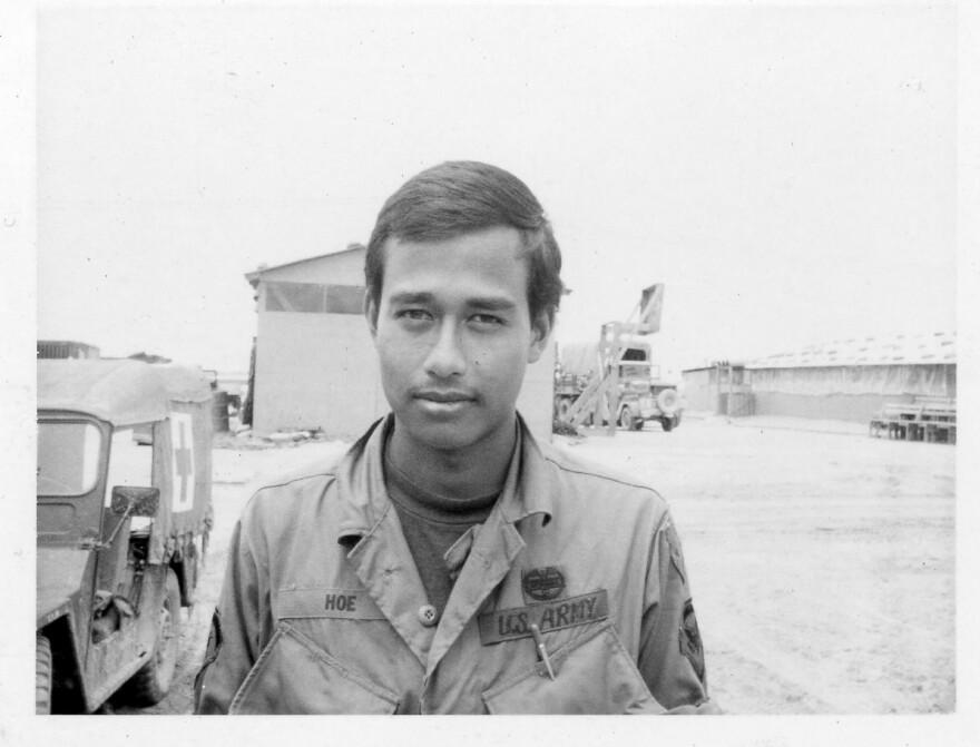 Army vet Allen Hoe before his departure home from Vietnam in 1968.