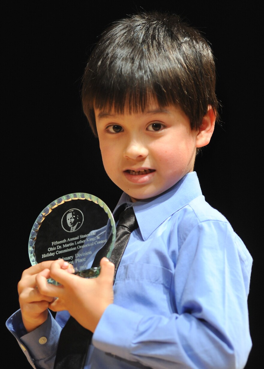 James Oram won first place in his division at Ohio's annual oratory contest celebrating Martin Luther King, Jr.