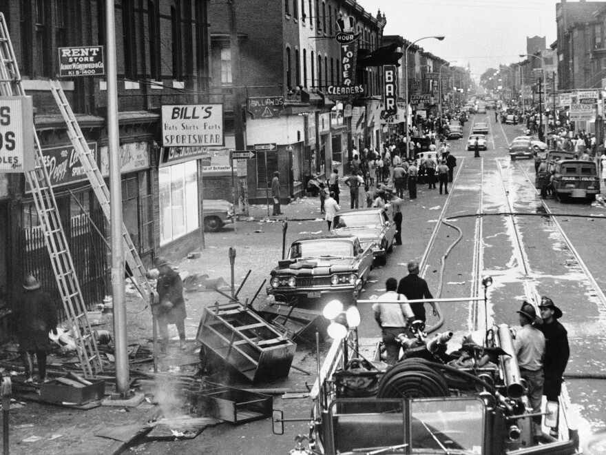A traffic dispute involving a white police officer and an African-American motorist set off three days of riots in the predominantly black area of North Philadelphia in 1964.