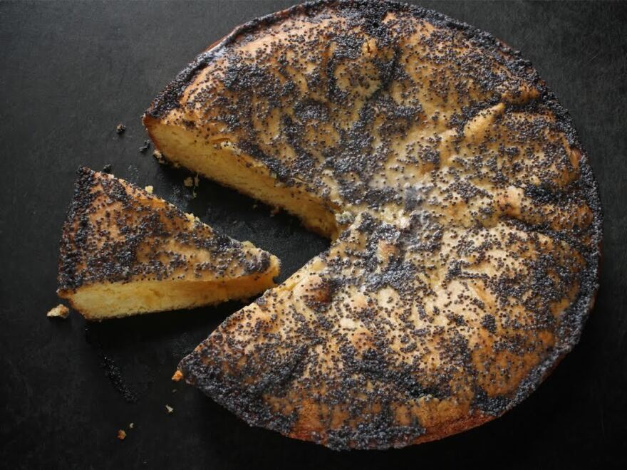 <em>Food & Wine's</em> Grapefruit Cornmeal Cake made by Dunn and Patton.