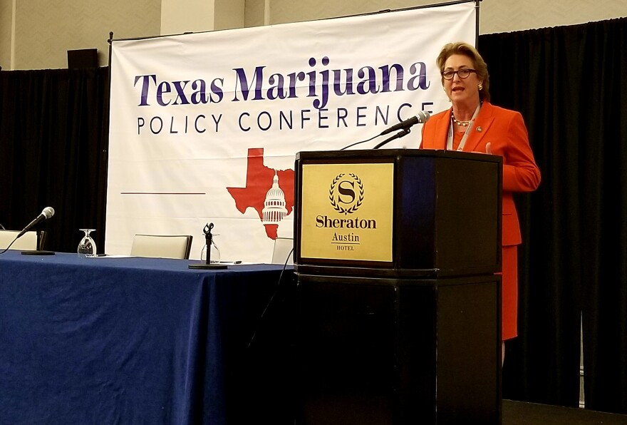 Kim Ogg is the district attorney for Harris County. She spoke at the Texas Marijuana Policy Conference in Austin.
