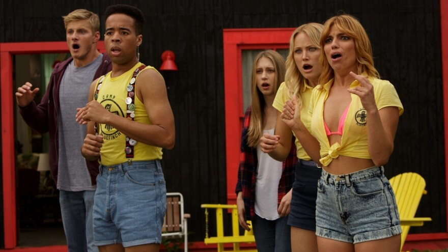 Contemporary teenagers find themselves trapped inside a 1980s horror film in<em> The Final Girls.</em>