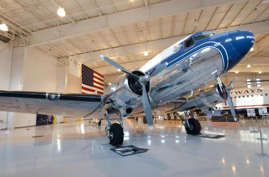 The Carolinas Aviation Museum collection includes an old Piedmont Airlines DC-3