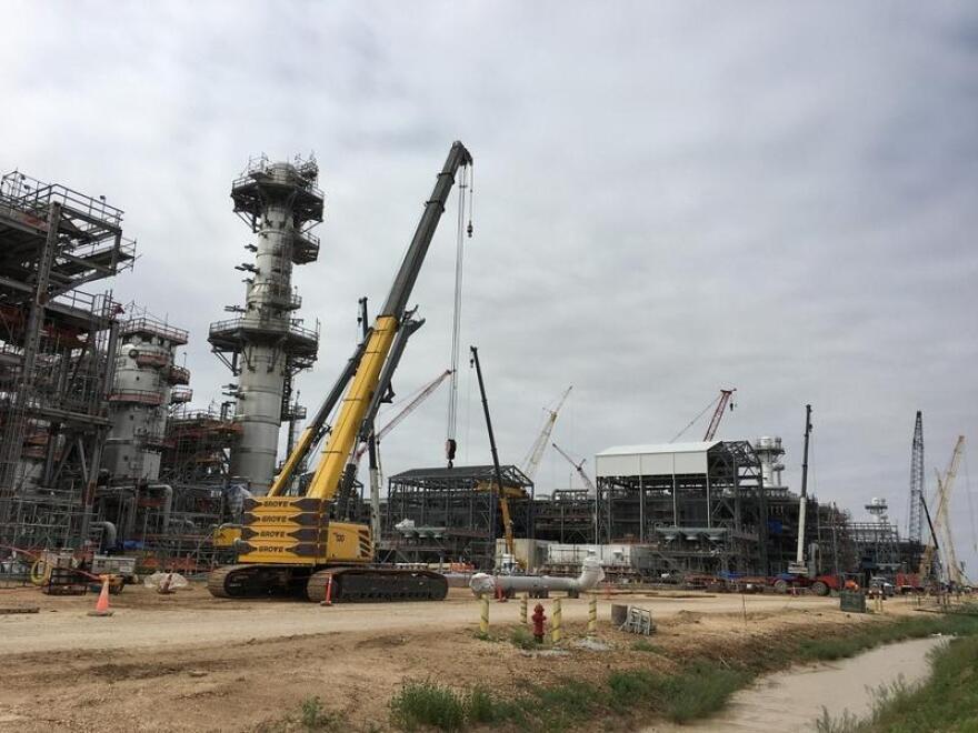A liquefied natural gas export facility under construction near Quintana, Texas in 2018.