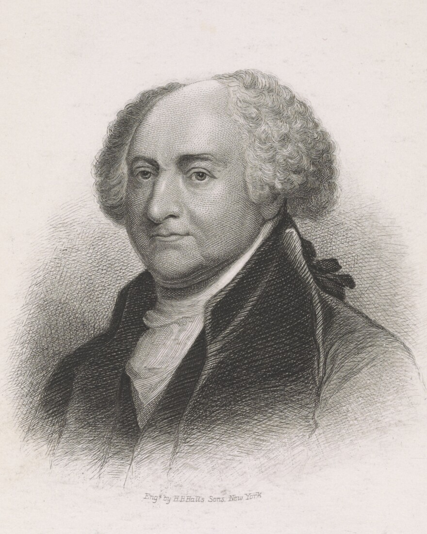 An engraving of John Adams.