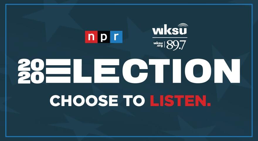 2020 WKSU-NPR cobranded election banner