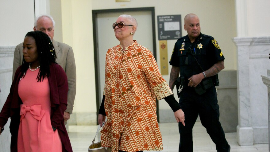 Camille Cosby at the Montgomery County Courthouse in Norristown, Pa., last month.